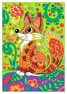 Набор для творчества картина по номерам лисичка, ркн-013  Lori