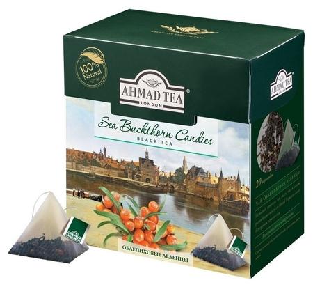 Чай Ahmad Tea облепиховые леденцы черный пирамидки,20пак/уп 1402  Ahmad Tea