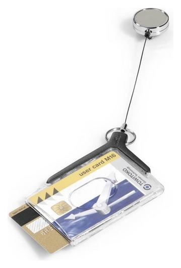 Чехол для пропуска с рулеткой,54х85, на рулетке, 10шт./уп.  Durable