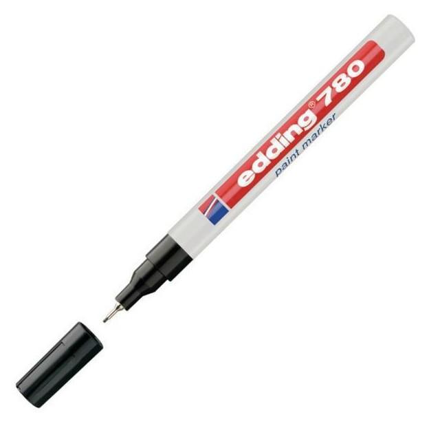 Маркер пеинт (Лак) Edding E-780/1 черный 0,8мм, мет. корп.  Edding