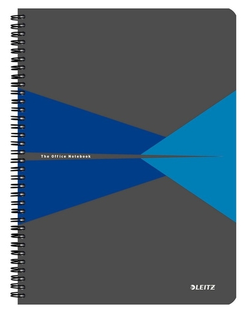 Бизнес-тетрадь А4, обложка полипропилен, клетка, синий  Leitz