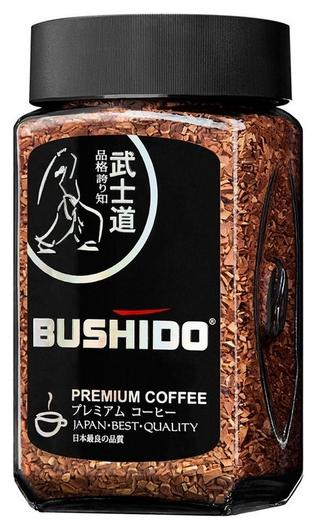 Кофе Bushido Black Katana растворимый,50г стекло  Bushido