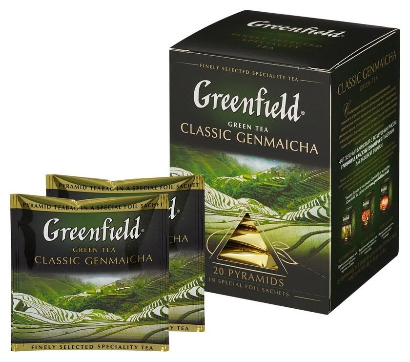 Чай Greenfield Genmaicha зеленый фольгир. 20пак/уп 1155-08  Greenfield