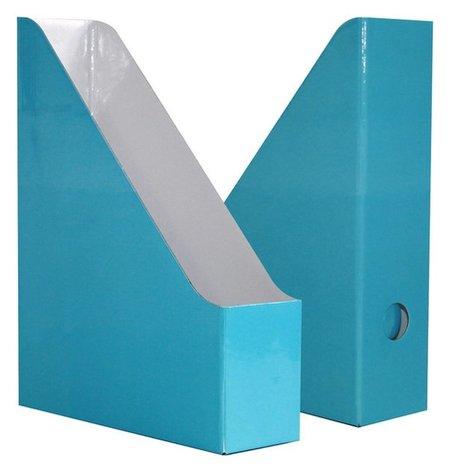 Вертикальный накопитель Attache Selection Flamingo 75мм 2шт/уп Aqua голубой  Attache