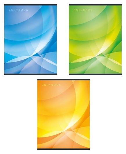 Тетрадь общая а4,96л,кл,скоб,блок-офсет-2 Attache сфера син/зелен/жел васс Attache