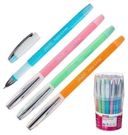 Ручка шариковая Attache Zephyr, синий ст. корп.  Attache