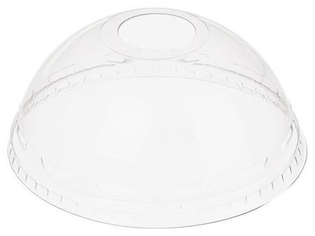 Крышка для стакана купольная с отверстием D= 95мм ПЭТ 50шт/уп., 20уп/кор  Комус