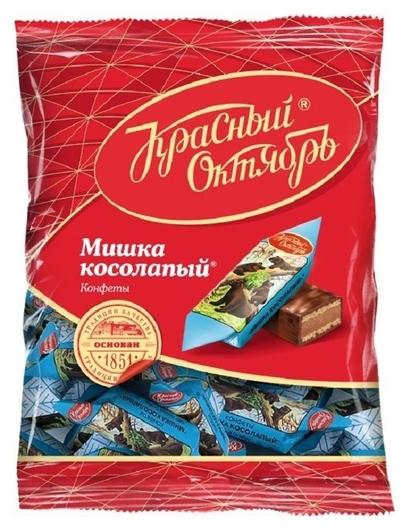 Конфеты шоколадные мишка косолапый, 200г  Красный октябрь