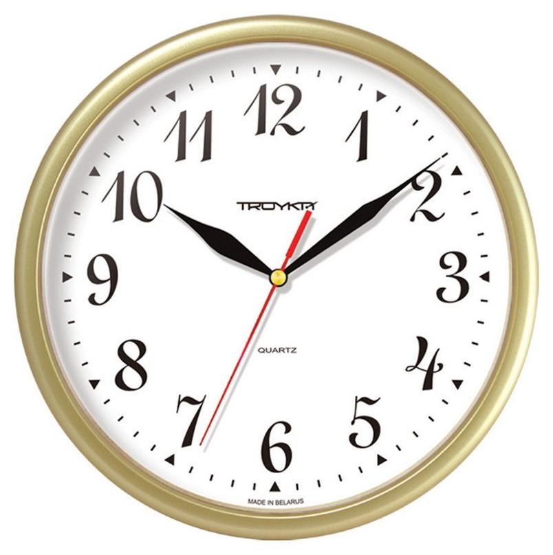 Часы настенные Troyka 91971913 круг., D225мм, плав.ход, пластик  Troyka