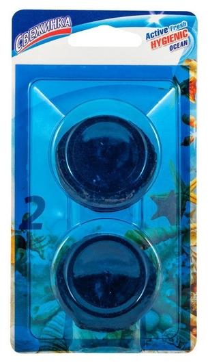 Средство для сантехники таблеткадля сливного бачка Ocean  Свежинка