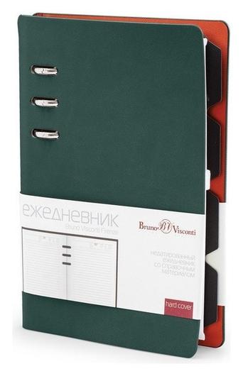 Ежедневник недатированный а5-,132х190мм,120л, Firenze зеленый 3-511/05  Bruno Visconti