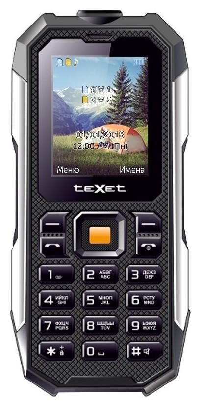 Мобильный телефон Texet Tm-518r черный  teXet
