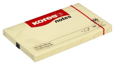 Блок-кубик Kores бум.для зам. 125х75 желтая 100л. ?46125  Kores