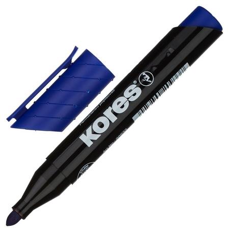 Маркер перманентный Kores синий 1,5-3мм круглый наконечник 20933  Kores