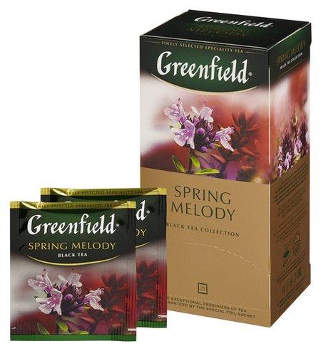 Чай Greenfield Spring Melody черный фольгир.25пак/уп 0525-10  Greenfield