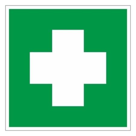 Знак безопасности Ec01 аптечка 1й мед.помощи (Плёнка,ф/л,200х200)  Технотерра