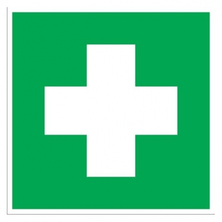 Знак безопасности Ec01 аптечка 1й мед.помощи (Плёнка,100х100)