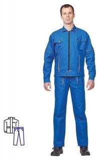 Спец.одежда летняя костюм мужской л06-кбр вас. (Р.44-46) 182-188