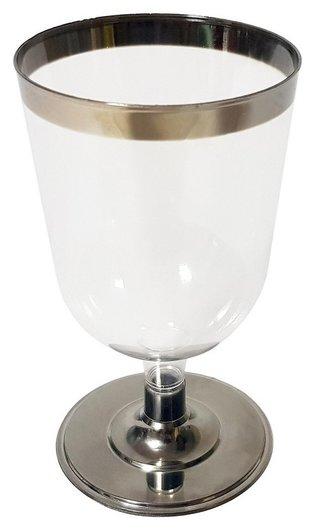 Бокал одноразовый для вина 200мл., прозр. винтаж, ПС, 6шт/уп  NNB