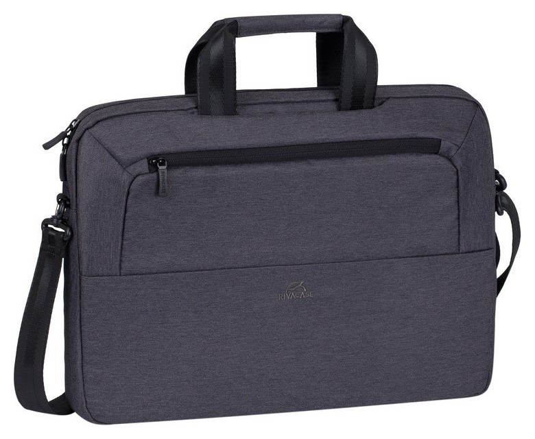Сумка для ноутбука 15.6, Rivacase Suzuka, черная, 7730 Black  RIVACASE