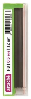 Стержень микрографический полимерный 0,5мм Attache HB 12 грифелей  Attache