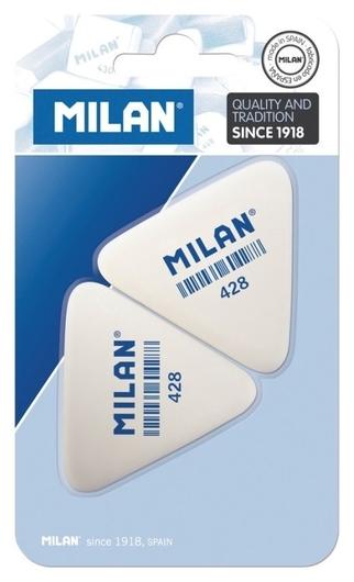 Ластик каучук Milan 428, 2 штуки в блистере (Bmm9358)  Milan