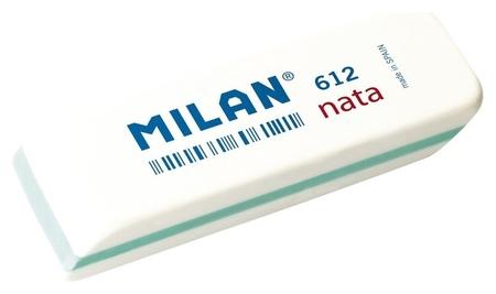 Ластик пластиковый Milan Nata 612 скошенной формы, белый, цвет в ассорт  Milan
