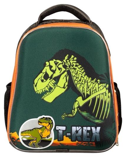 Ранец №1school Basic T-rex, 2 отд., ортопед. Cпинка, светящийся кант  №1 School