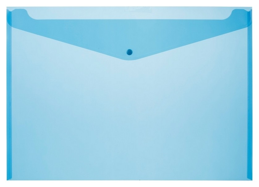 Конверт на кнопке Attache А3, полупрозр.180мкм синий, 5 шт/уп  Attache