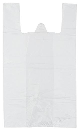 Пакет-майка ПНД 16+12х30 9 мкм 100шт./уп. белая  NNB