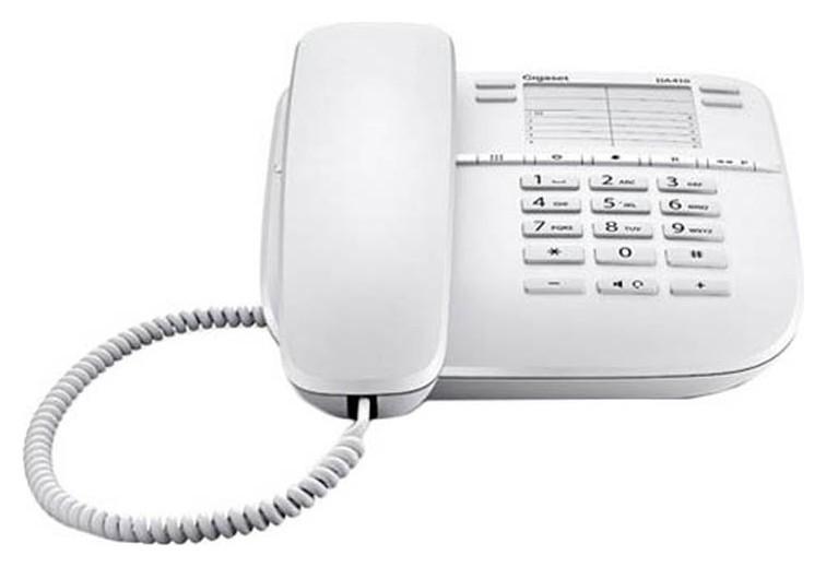 Телефон проводной Gigaset Da410 белый  Gigaset