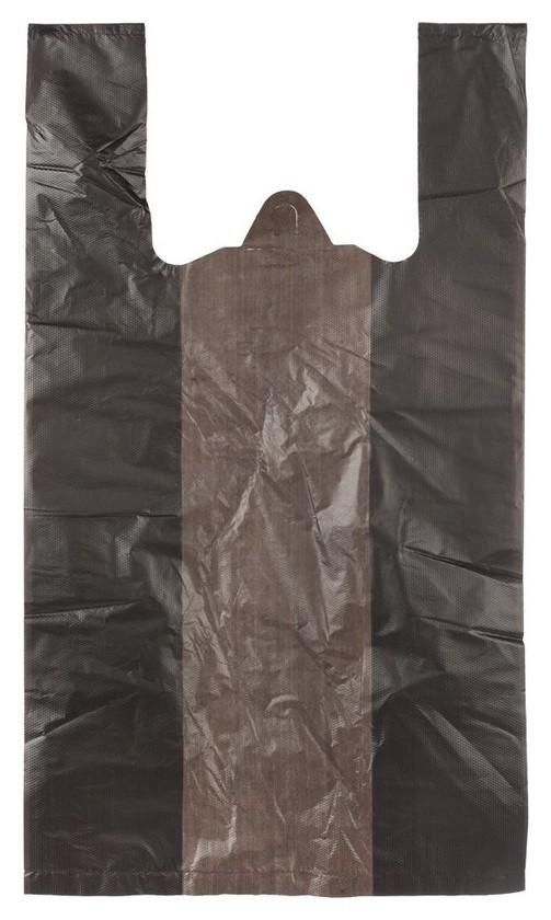 Пакет-майка усиленный пнд, 30+18x56, черный, 28 мкм, 100 шт/уп  NNB