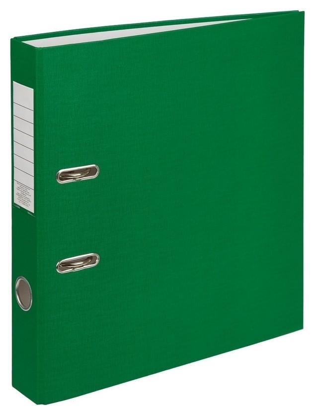 Папка-регистратор (Пвх+бумага)экономи, 50мм, зеленый  NNB