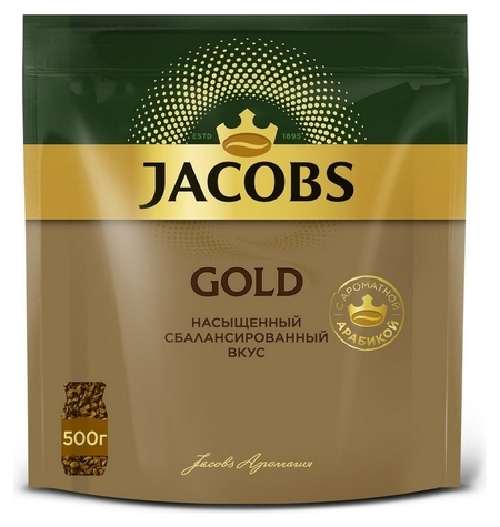 Кофе Jacobs Gold раств.субл. 500г пакет  Jacobs