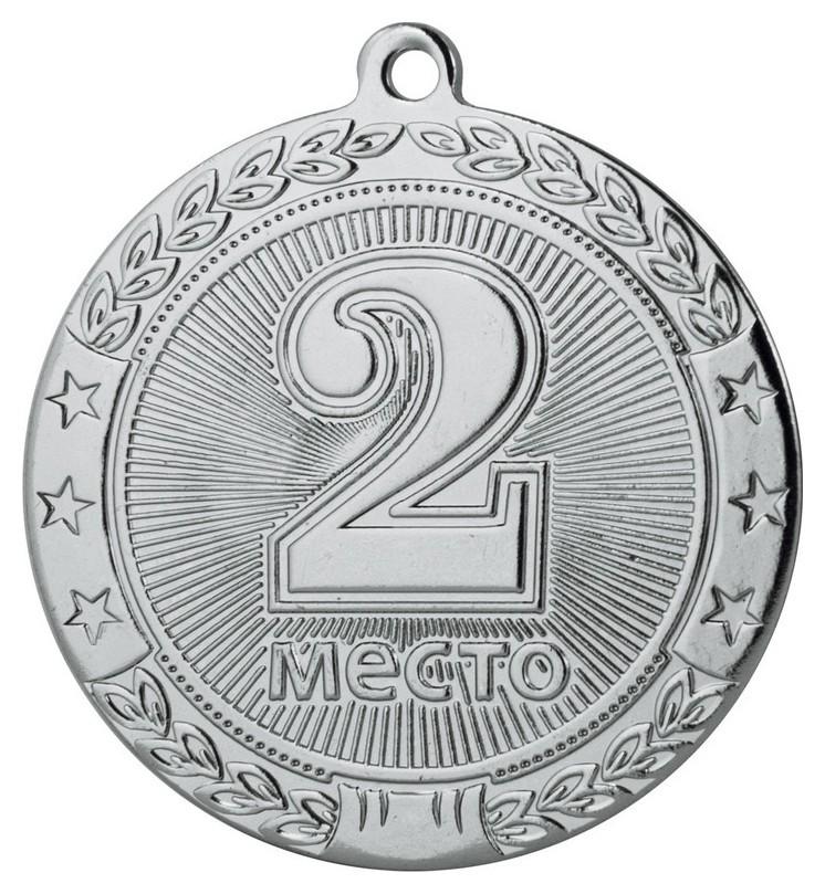 Медаль 2 место 45 мм серебро Dc#mk182  NNB