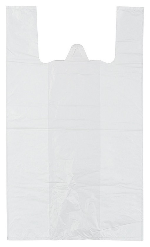 Пакет-майка ПНД 28+13x57см белый, 15 мкм, 100 шт/уп  NNB