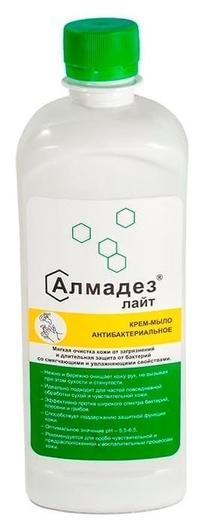 Дезинфицирующее мыло алмадез-лайт антибактериальное 0,5 л (С дозатором)  Алмадез