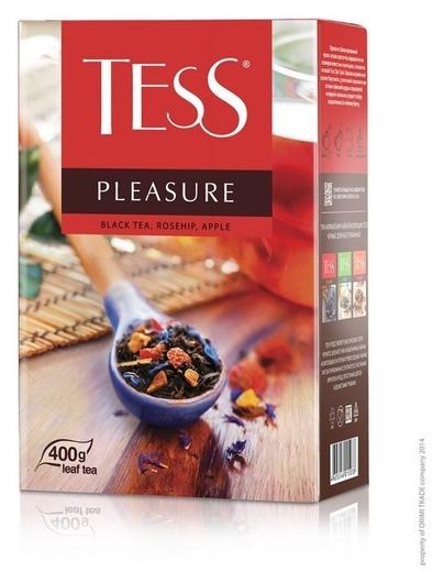 Чай Tess Pleasure листовой черный с добавками,400г 1502-10  Tess