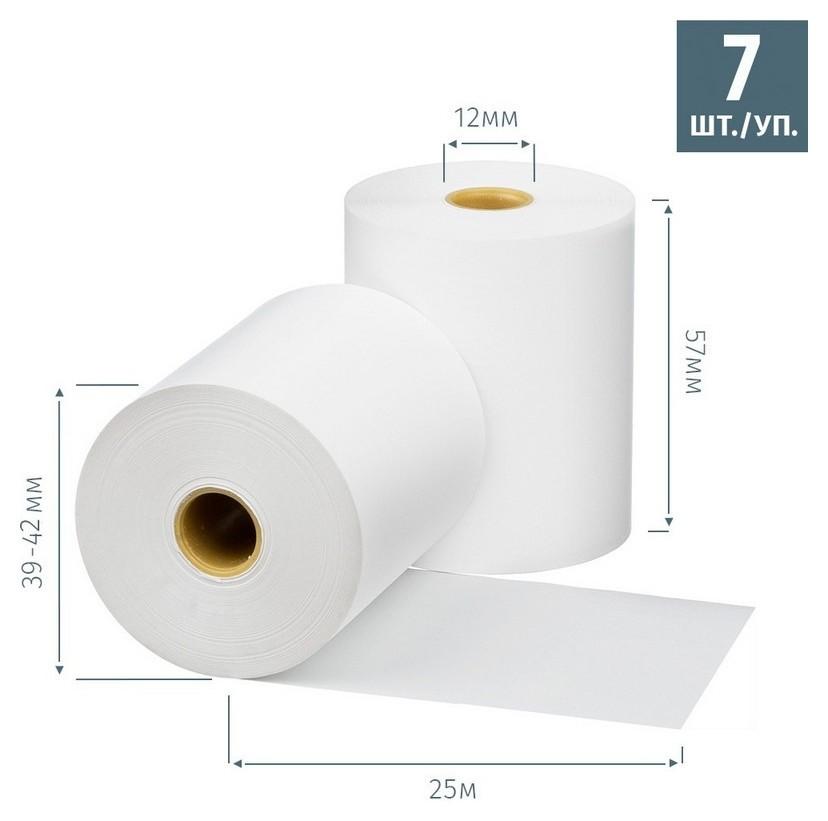 Ролики для касс Promega 57мм (Дл.25м,вт12,из т/б) 7шт/уп. 27уп/кор (487530)  ProMEGA