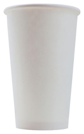 Стакан одноразовый бум однослойный D-90мм 400мл белый 50шт/уп  Комус