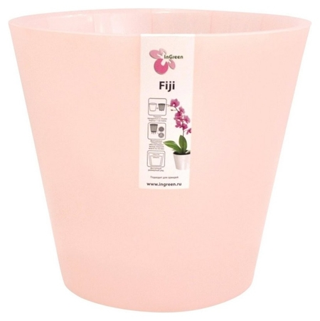 Горшок для цветов фиджи орхид 1,6л розовый Ing1558рзперл  InGreen