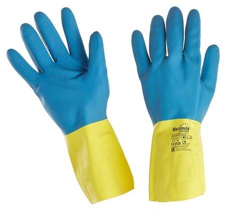 Перчатки защитные латекс/неопрен Manipula союз (Ln-f-05) р-р 10-10,5  Manipula