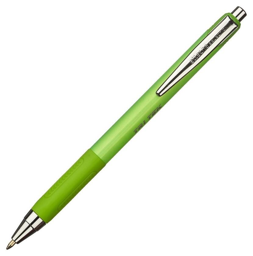 Ручка шариков. Attache Selection Glide Tri Tec 0,7мм, син, мас, трехг,авт.  Attache