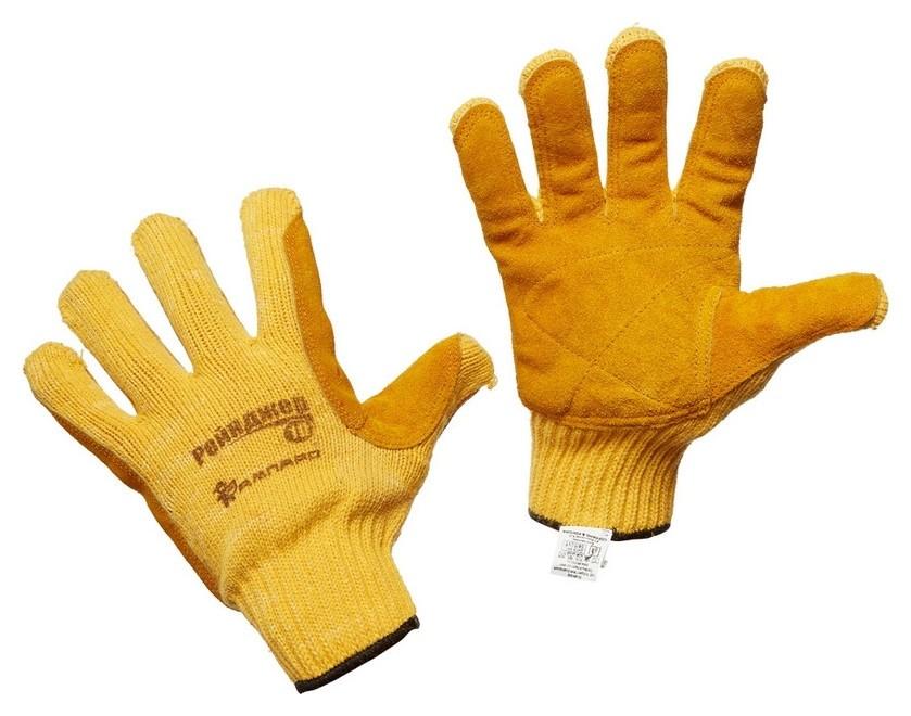 Перчатки защитные трикотажные ампаро рейнджер со спилк. накладкой (497906)  Ампаро