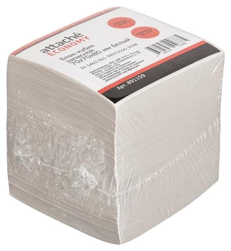 Блок-кубик Attache эконом запасной 7х7х8 белый 65 г/70  Attache