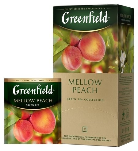 Чай Greenfield Mellow Peach зел, 25пак 1389-10  Greenfield