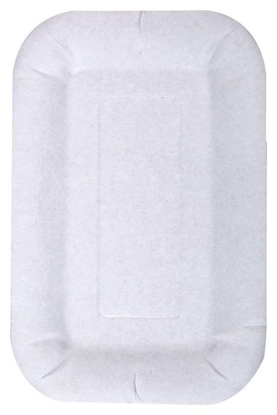 Тарелка одноразовая бумажная, белая, комус 110х170мм 200шт/уп (12202)  Комус