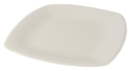 Тарелка одноразовая - блюдо квадратное белое 30х30см ПП 12шт/уп  АВМ