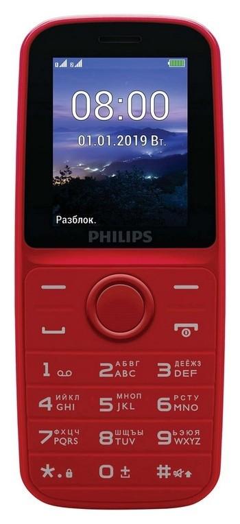 Мобильный телефон Philips E109 Xenium (Red)  Philips