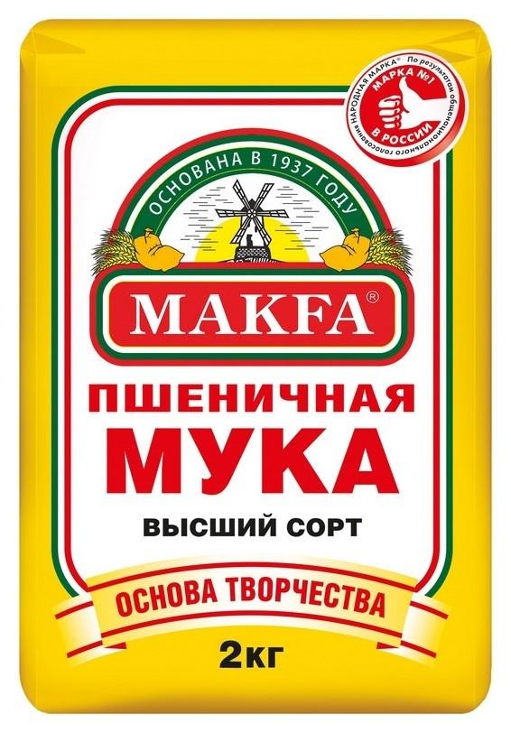 Мука макфа пшеничная, 2кг  Макфа